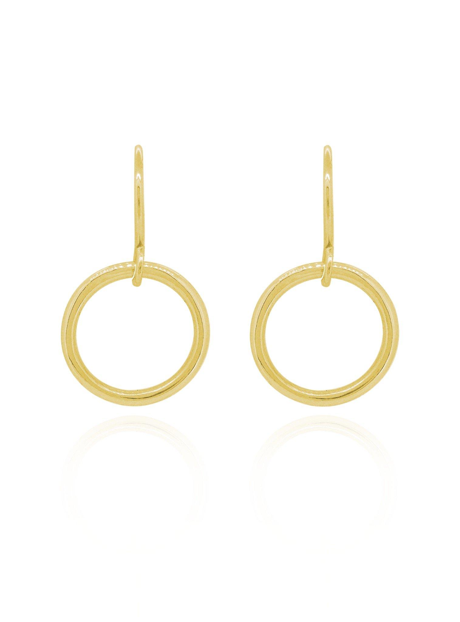 Hope Circle Earrings in Gold