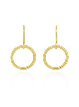 Hope Circle Earrings in Gold