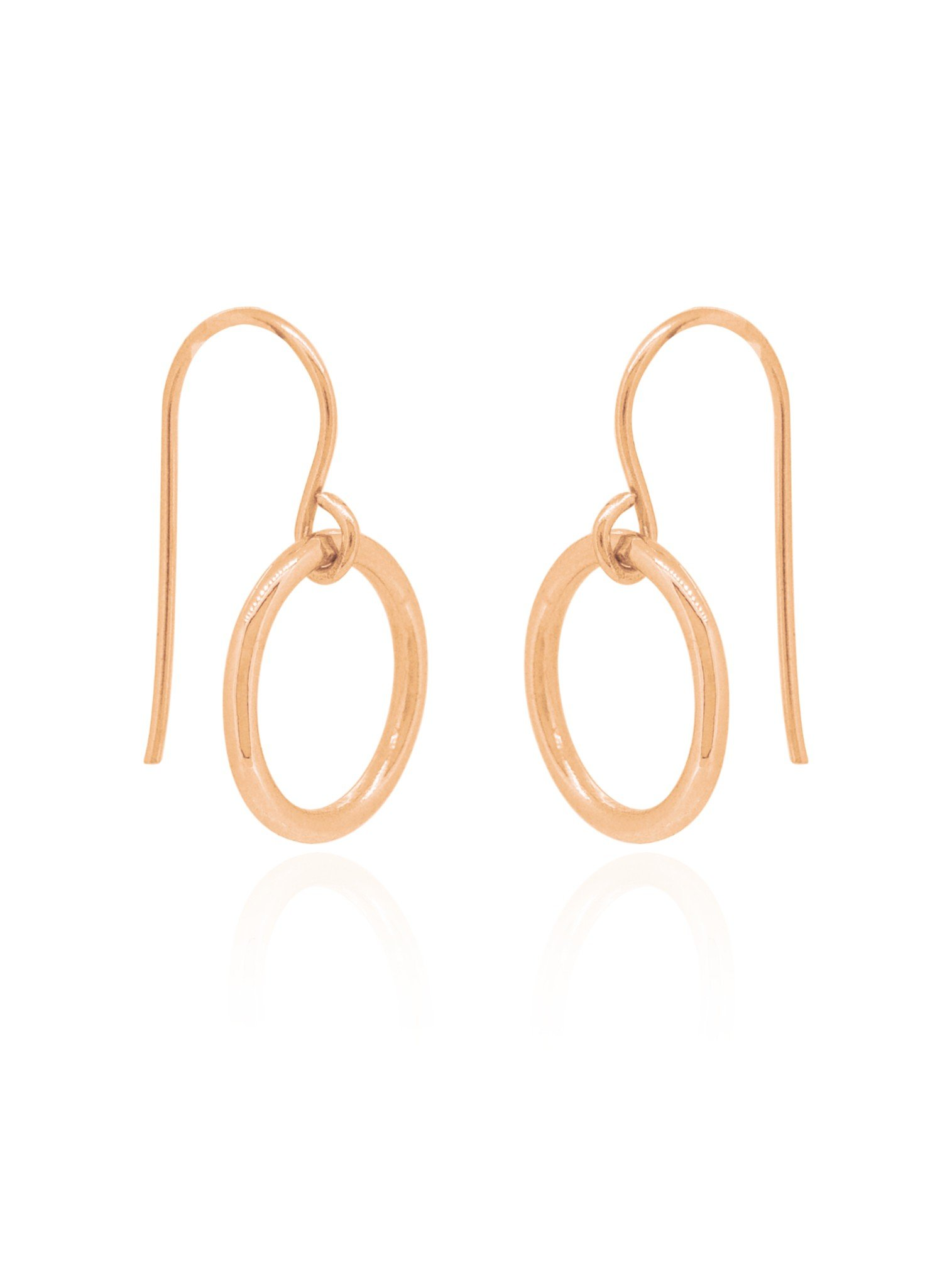 Hope Circle Earrings in Rose Gold