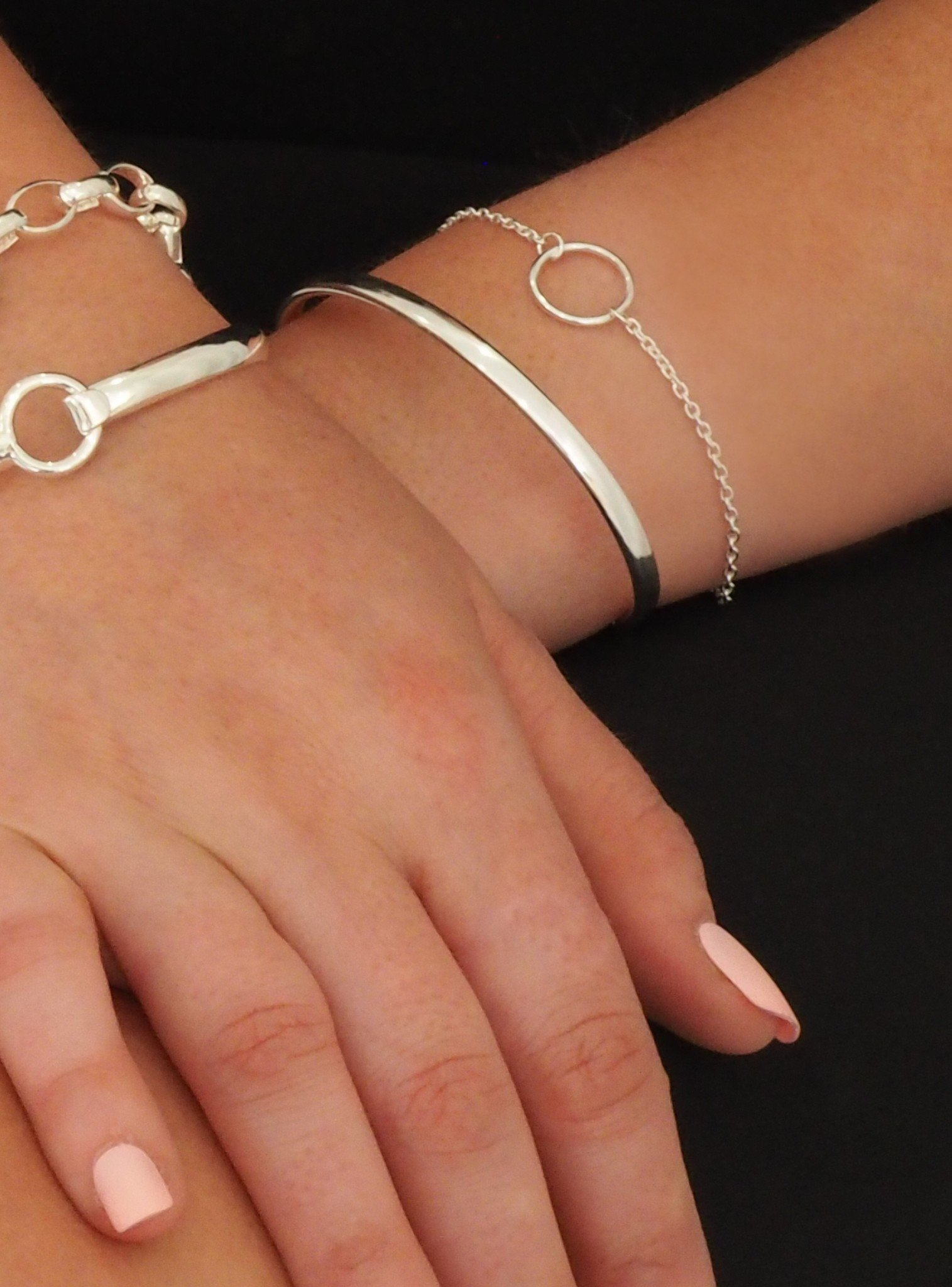 Hope Circle Bracelet in Sterling Silver