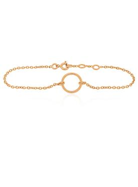 Hope Circle Bracelet in Rose Gold