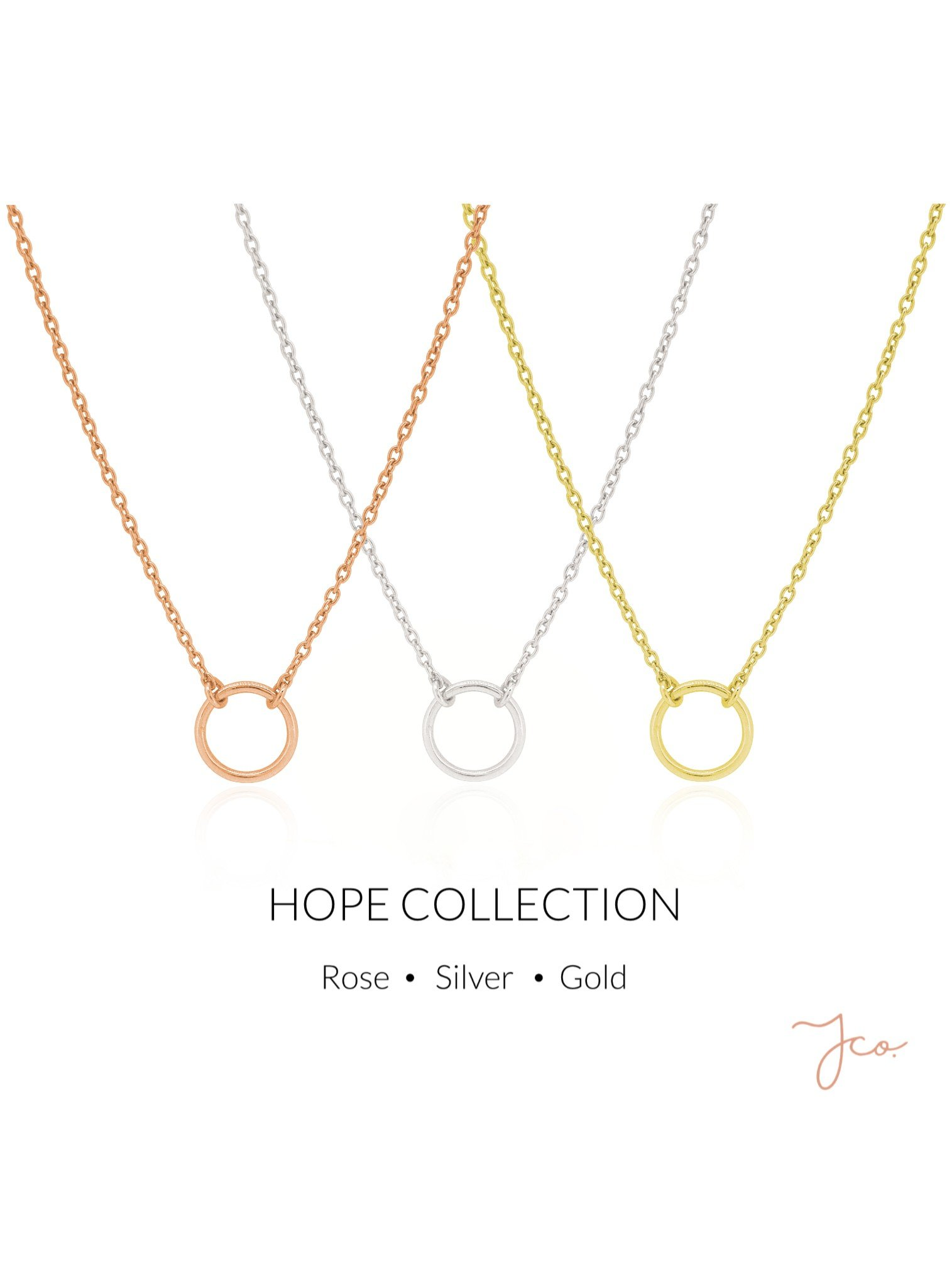 Hope Circle Necklace in Sterling Silver