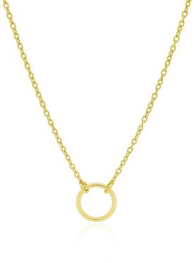Hope Circle Necklace in Gold