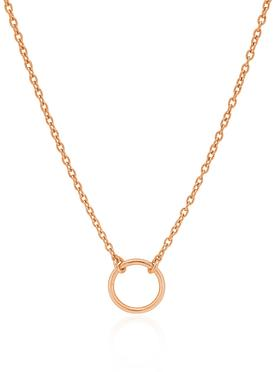 Hope Circle Necklace in Rose Gold