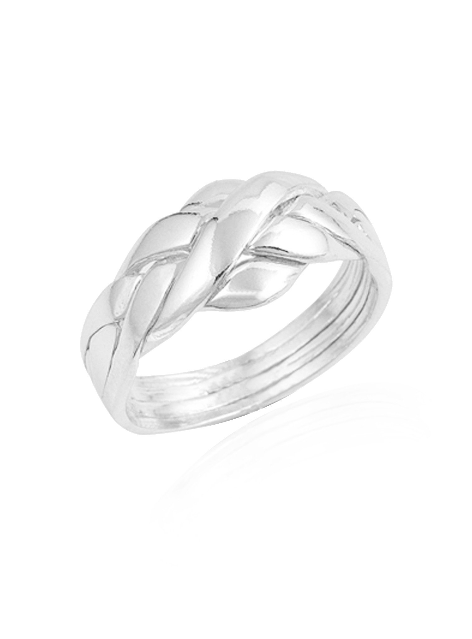 Reagan Puzzle Ring in Sterling Silver