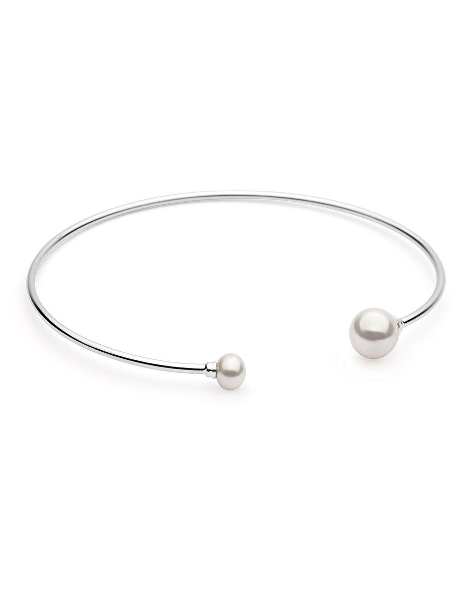 Chasing Dawn Silver Pearl Bangle