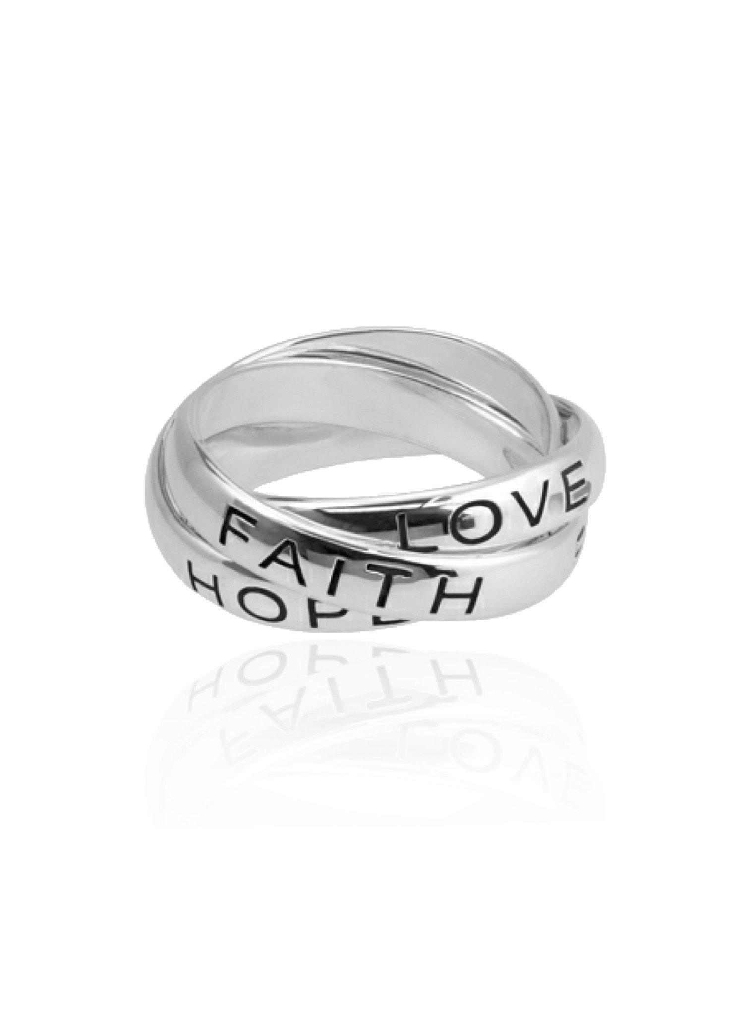 Russian Faith Hope Love 3 Band Ring