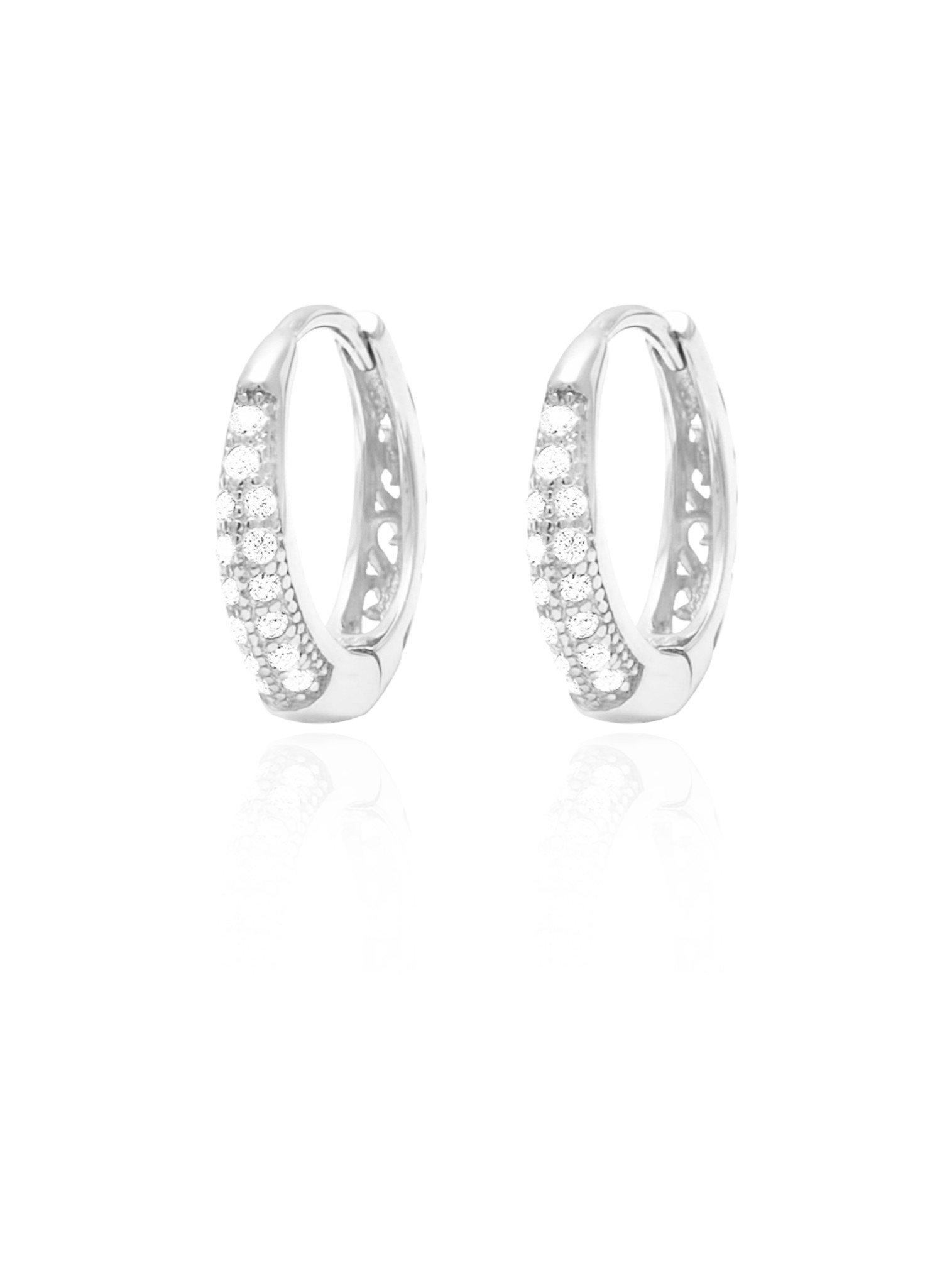 Gigi Huggie Cz Hoop Earrings in Sterling Silver