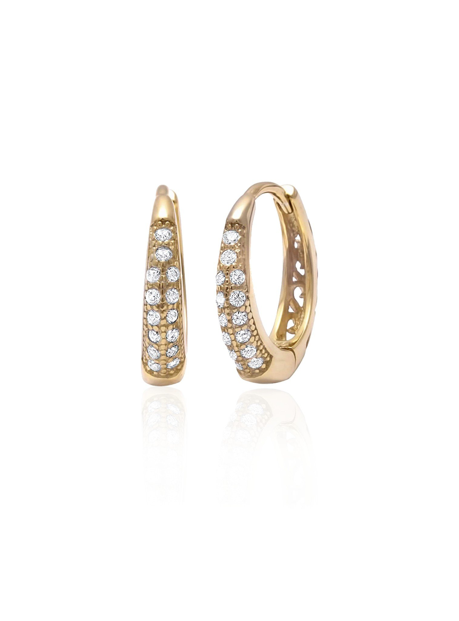 Gigi Huggie Cz Hoop Earrings in Gold