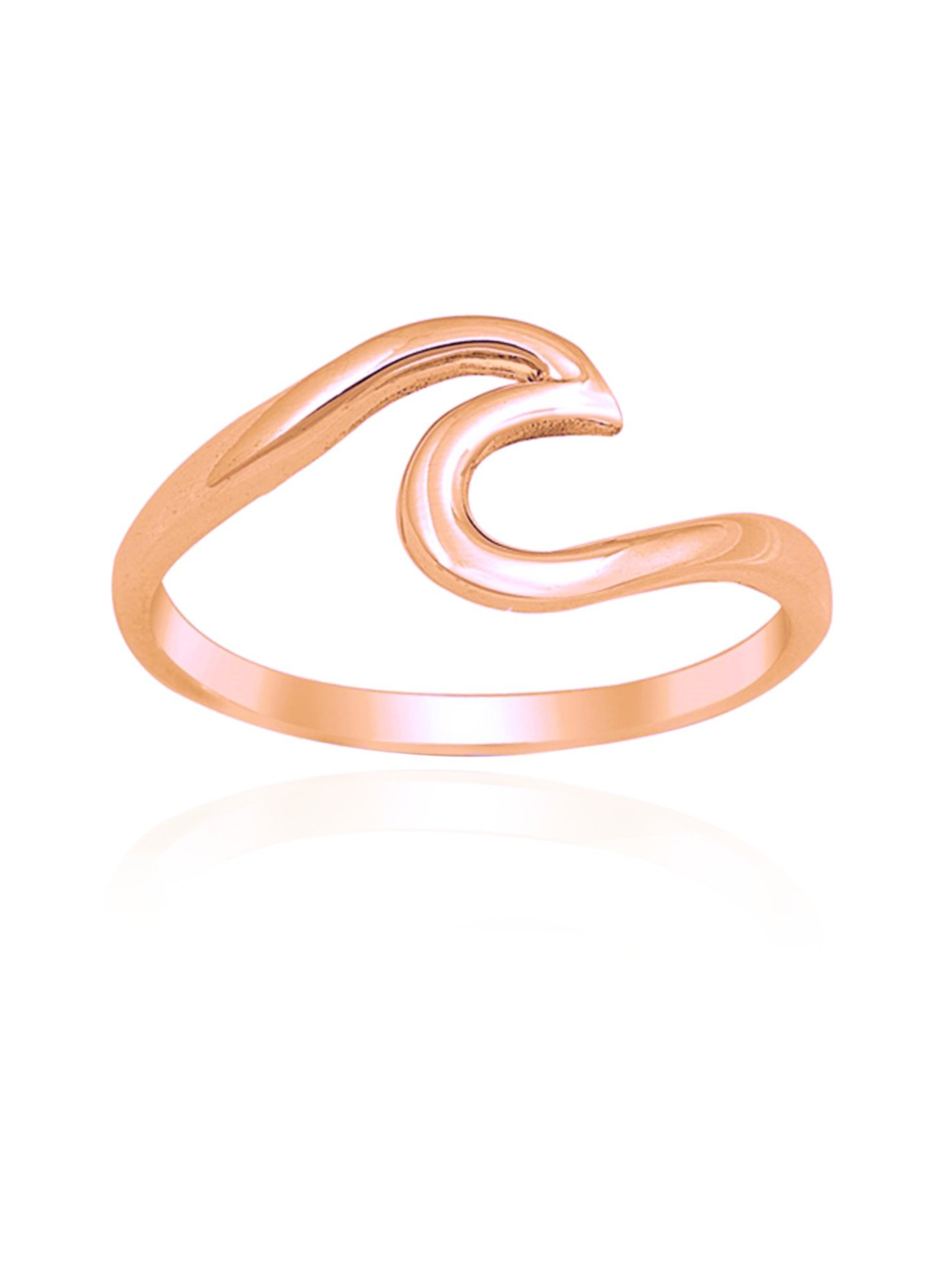 Mariana Wave Ring in Rose Gold