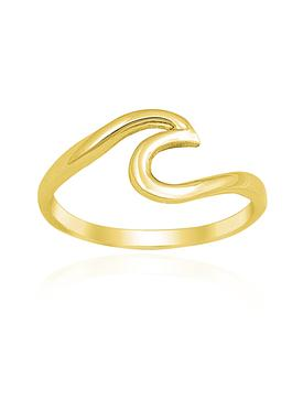 Mariana Wave Ring in Gold