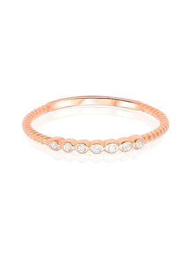 Selena Stacking Ring in Rose Gold