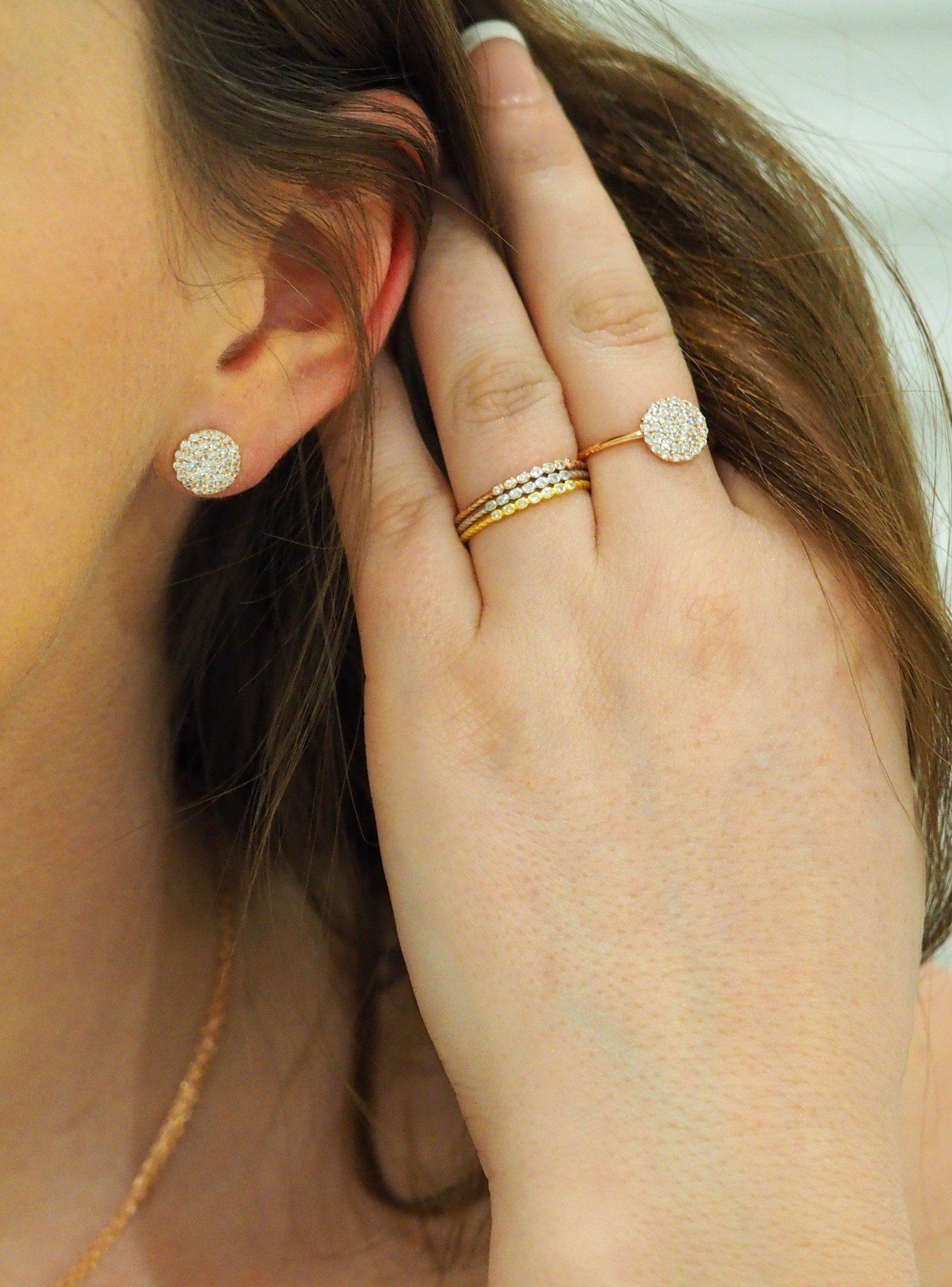 Selena Stacking Ring in Rose Gold