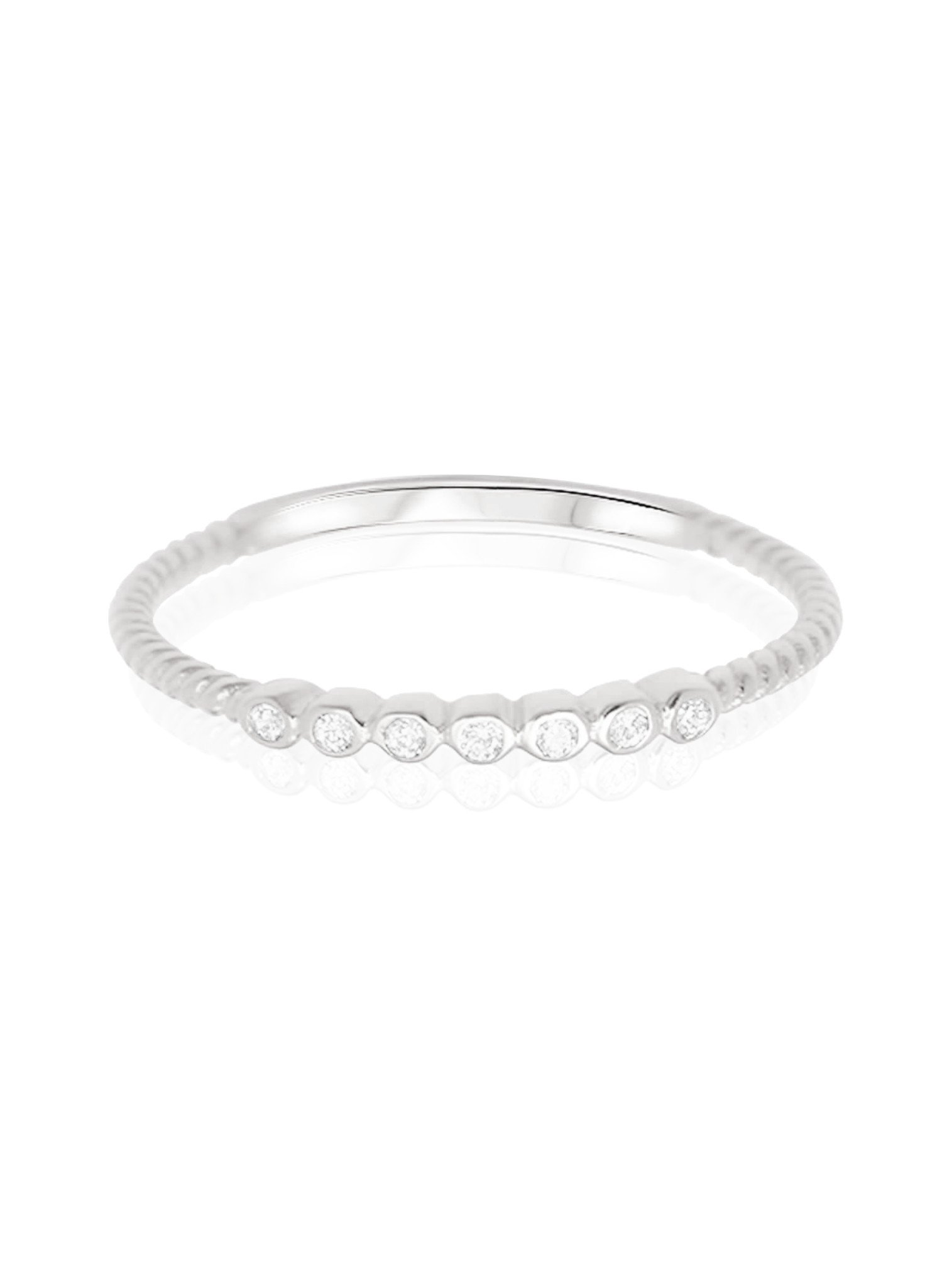 Selena Stacking Ring in Silver