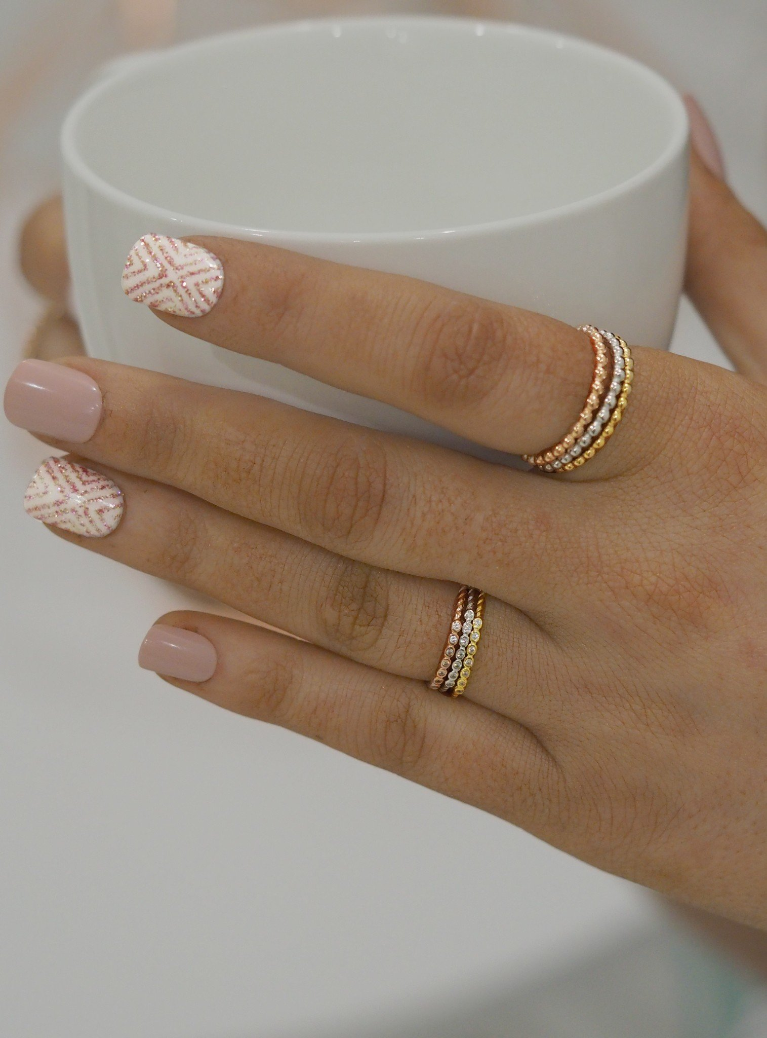 Selena Stacking Ring in Gold
