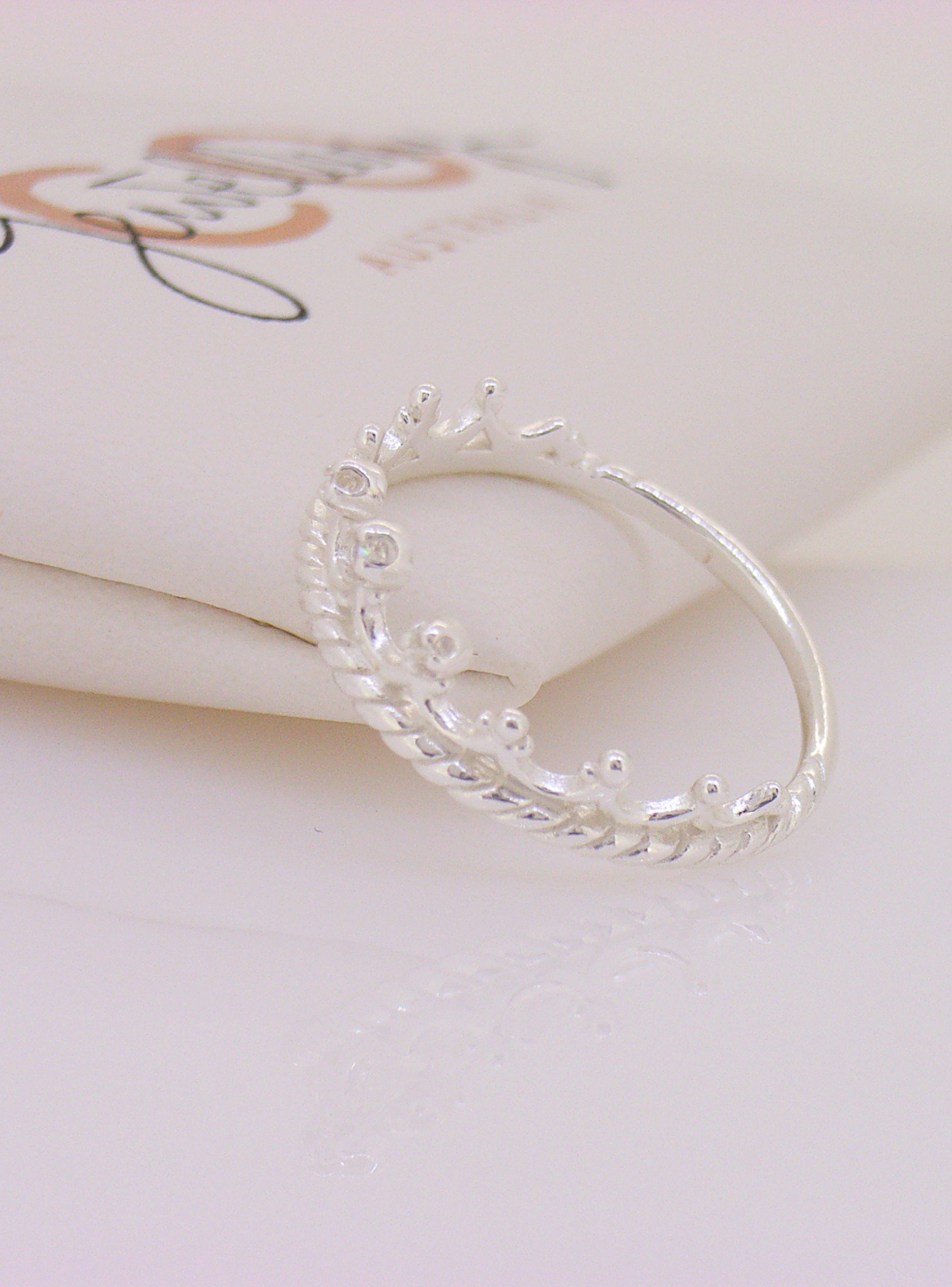 Tiara Cz Stacking Ring in Silver