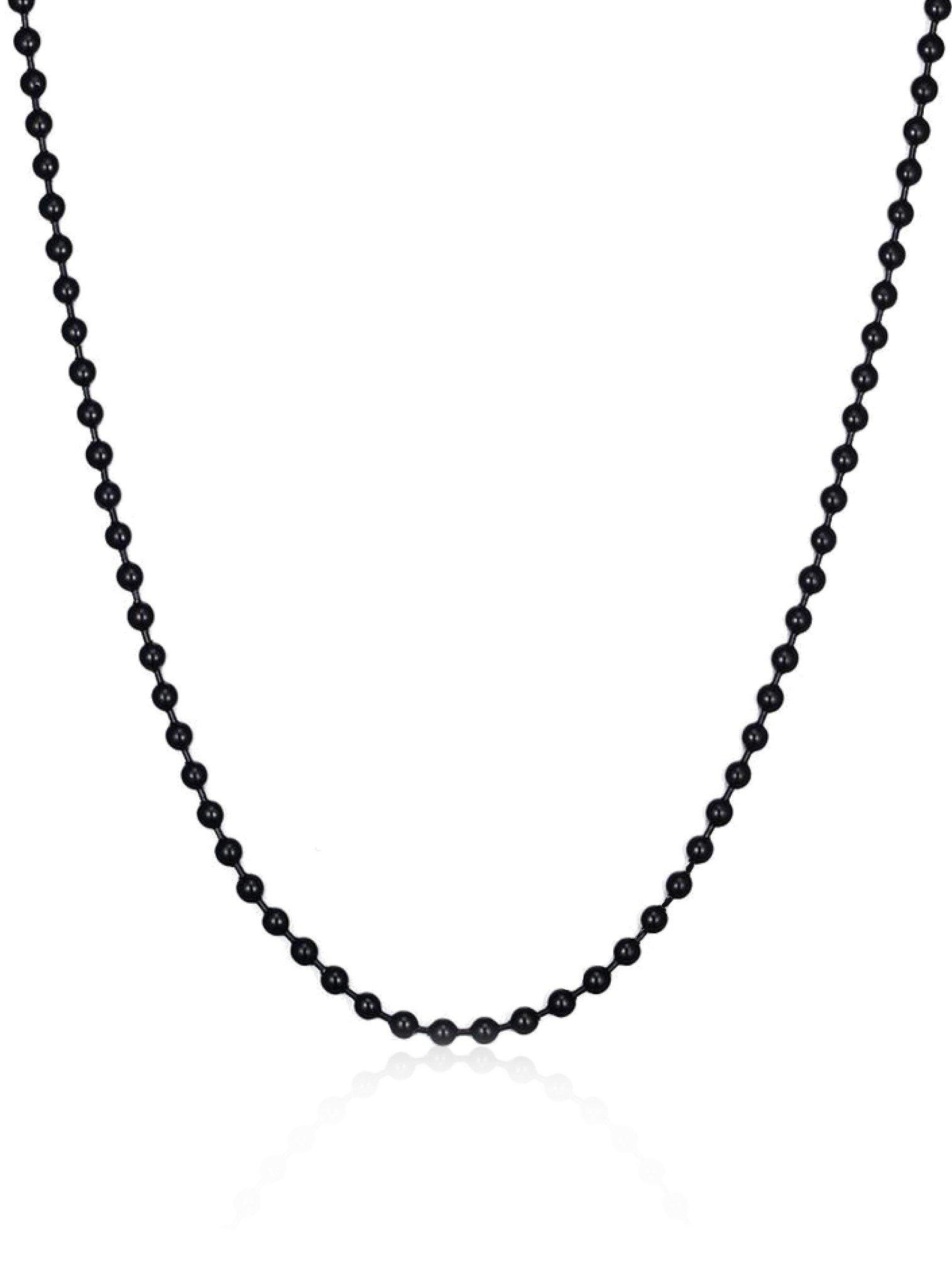 Pastiche Black Ball Necklace
