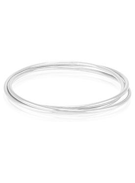 Reagan Trinity Bangle in Sterling Silver