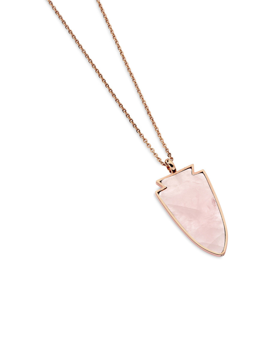 Twilight Rose Quartz Necklace in Rose Gold