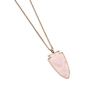 Twilight Rose Quartz Necklace in Rose Gold