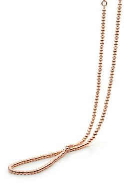Elise Ball Necklace in 14ct Rolled Rose Gold