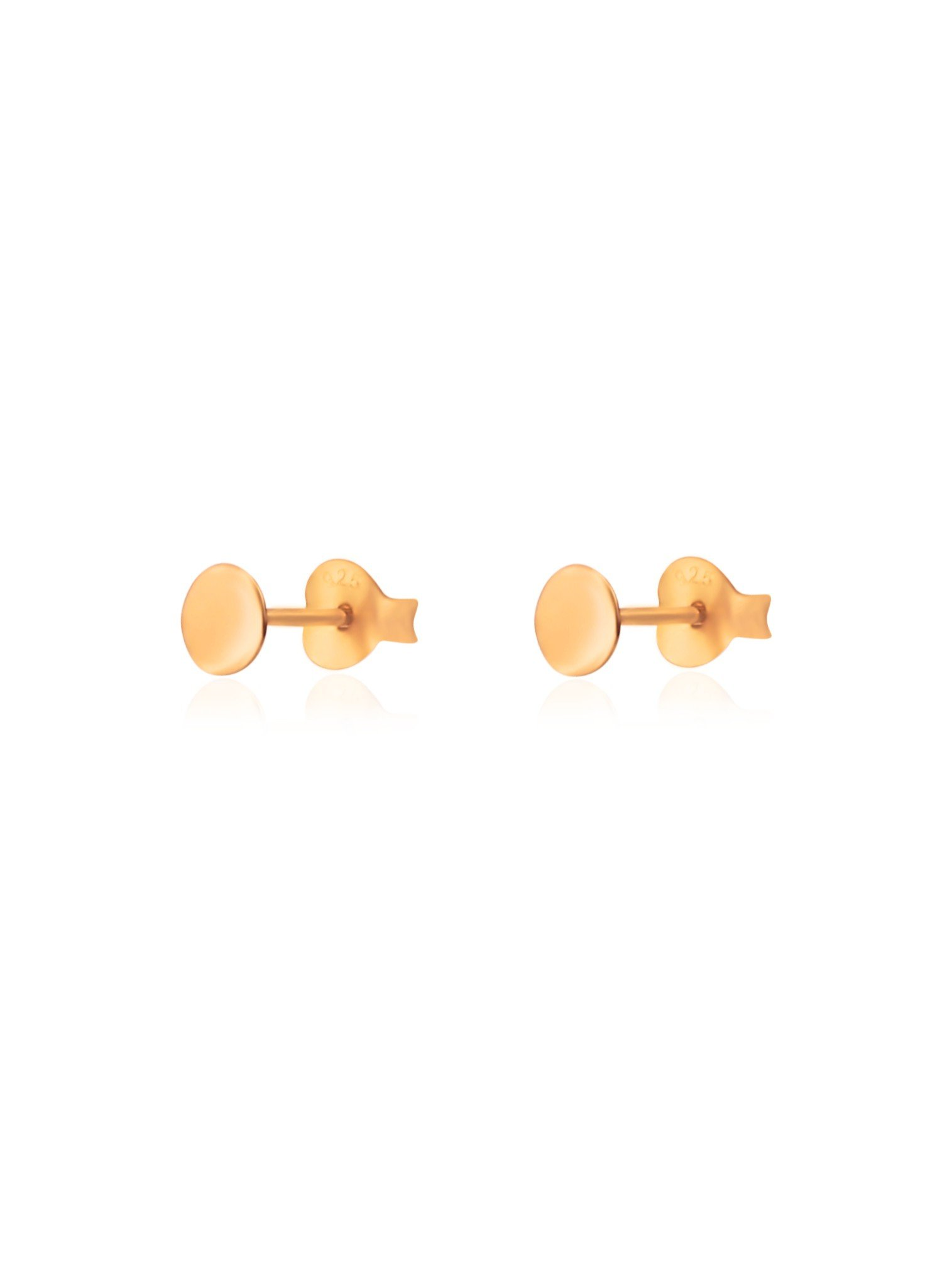 Dakota Simple Disc Stud Earrings in Rose