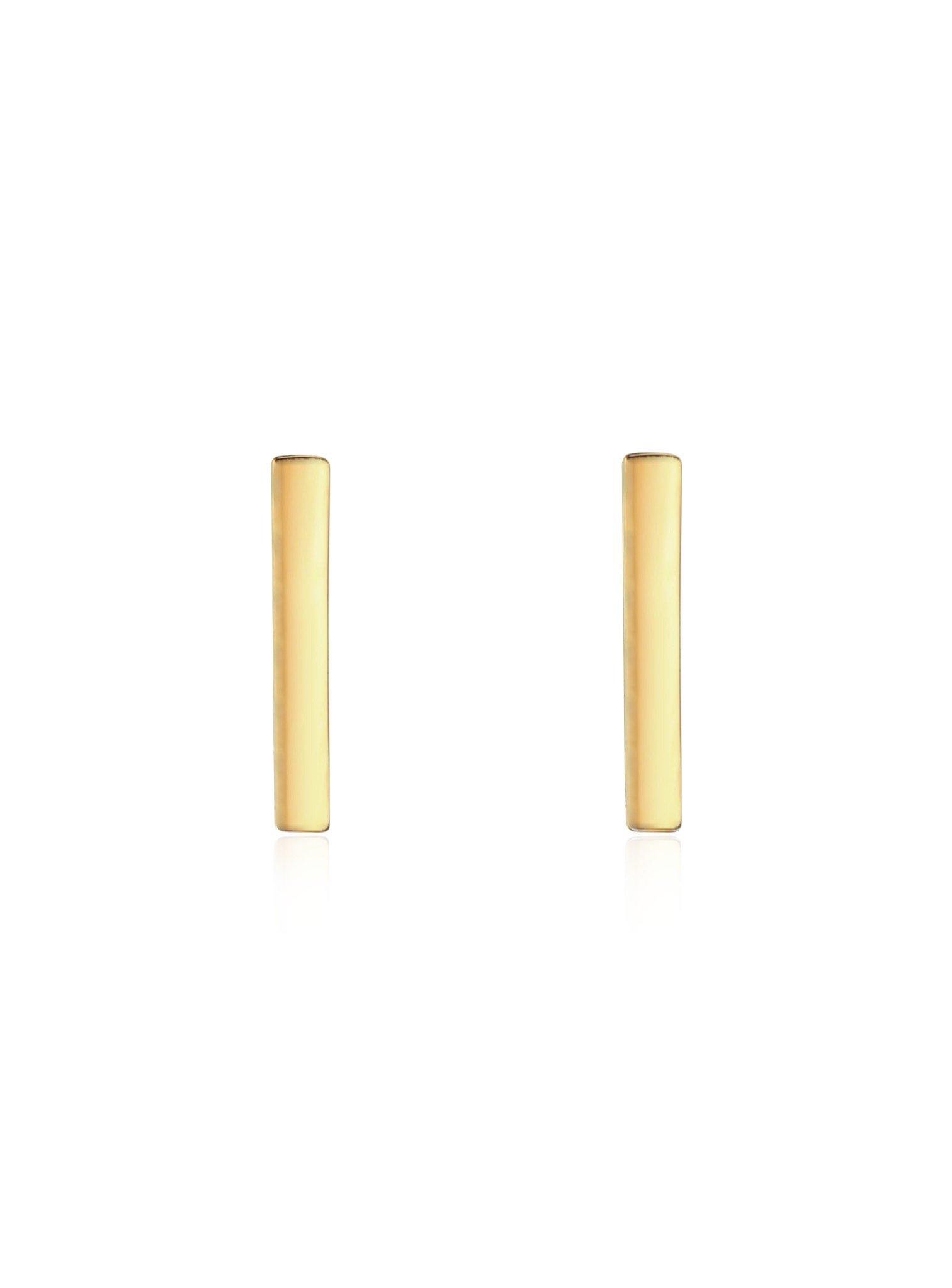 Dakota Simple Bar Stud Earrings in Gold