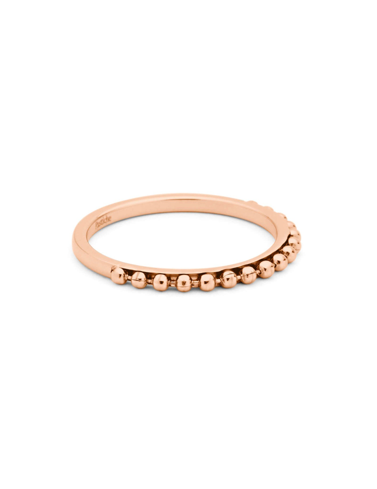 Pastiche Ball Stacking Ring in Rose Gold