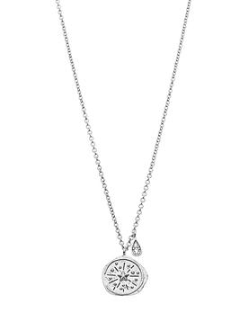 Northern Lights Compass Necklace in Silver