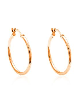 Dakota Simple Hoop Earrings in Rose