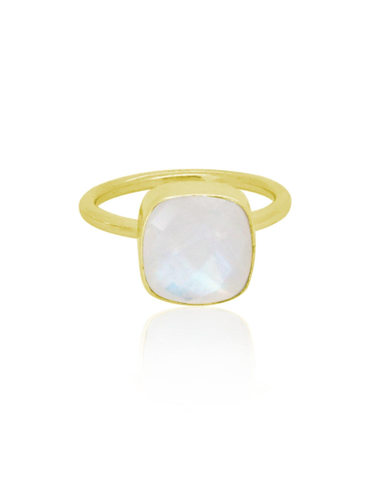 Indie Moonstone Gemstone Ring in Gold